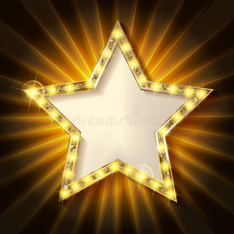 Bandera ligera retra de la estrella stock de ilustración