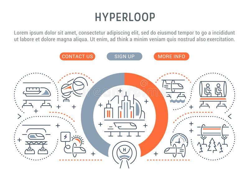 Bandera linear de Hyperloop libre illustration