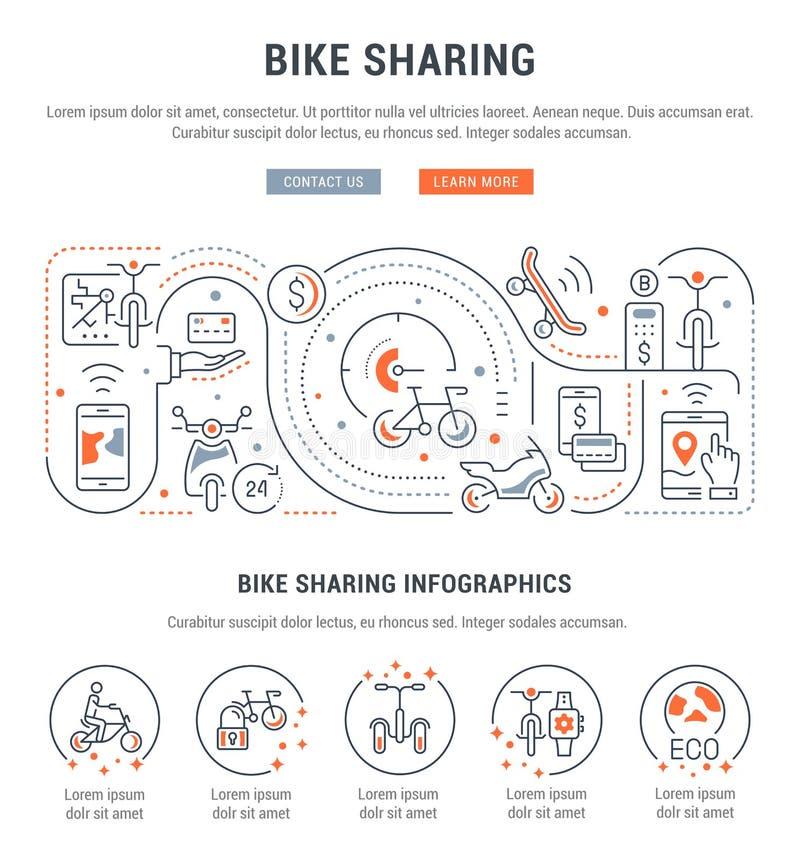 Bandera linear de la distribución de la bici libre illustration