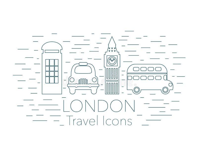 Bandera linear de Londres ilustración del vector