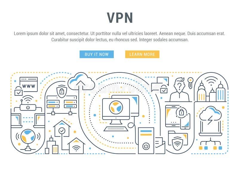 Bandera linear del VPN libre illustration