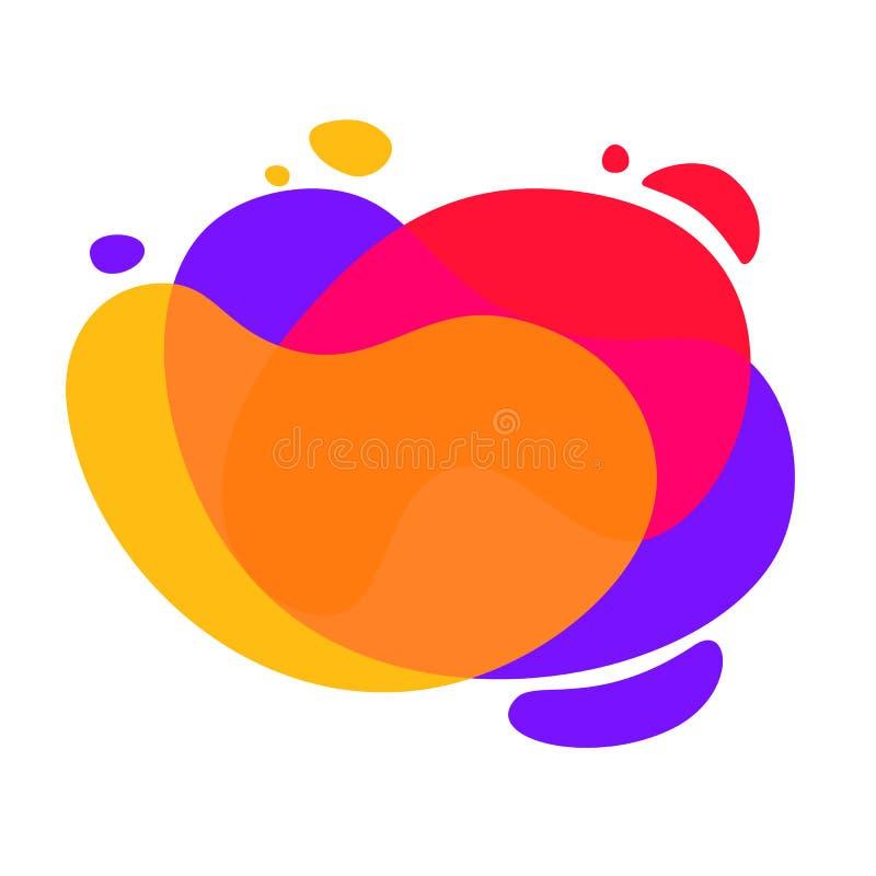Bandera mínima de la gota colorida de las formas stock de ilustración