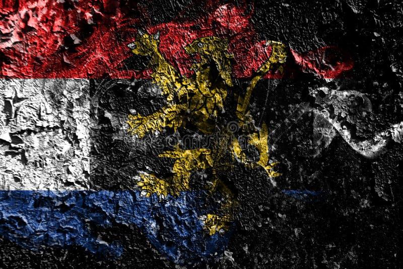 Bandera mística ahumada de Benelux en el viejo fondo sucio de la pared ilustración del vector
