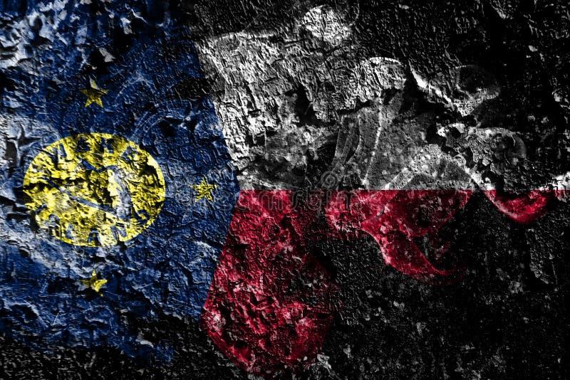 Bandera mística ahumada de Estados Unidos - isla Wake en el viejo fondo sucio de la pared libre illustration