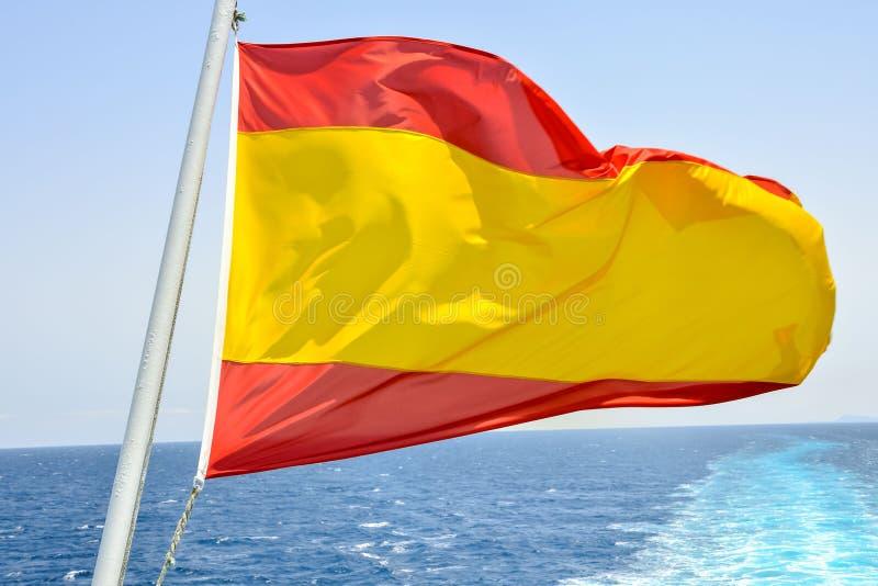 Bandera móvil en el viento imagen de archivo