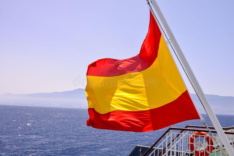 Bandera móvil en el viento imagen de archivo libre de regalías
