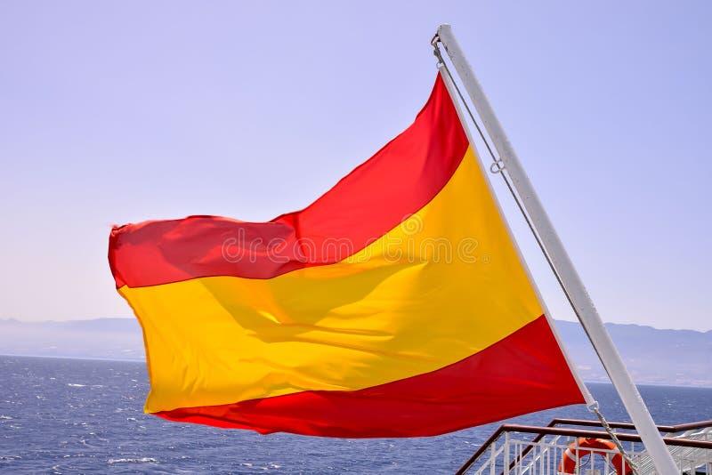 Bandera móvil en el viento fotos de archivo