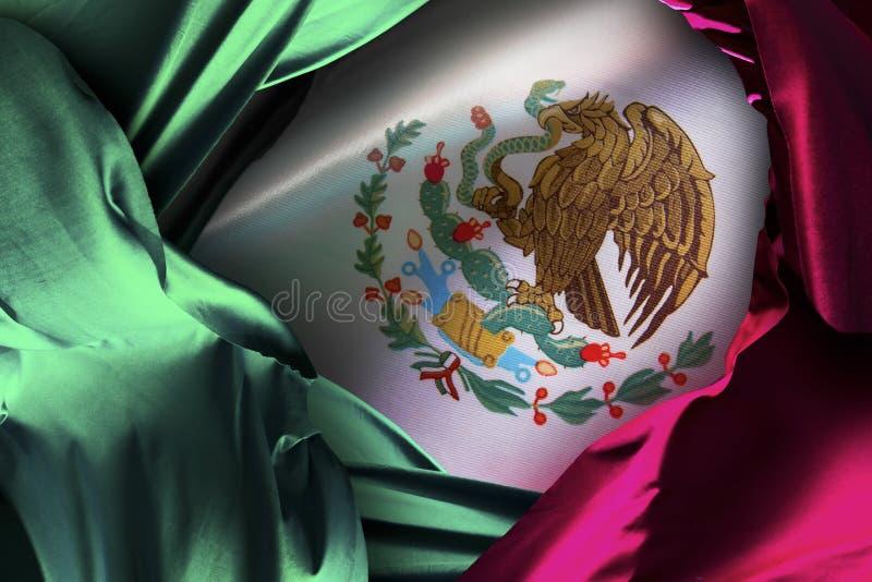 Bandera mexicana, Día de la Independencia, celebración de Mayo del cinco fotografía de archivo