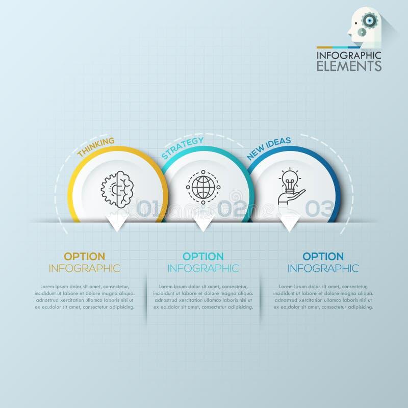 Bandera moderna de las opciones del estilo de la papiroflexia de la esfera económica Ilustración del vector ilustración del vector