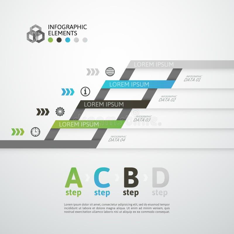 Bandera moderna de las opciones del estilo de la papiroflexia del paso del negocio stock de ilustración