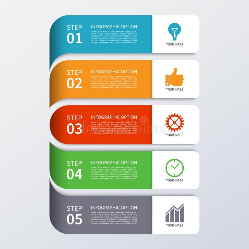 Bandera moderna de las opciones del infographics del negocio stock de ilustración