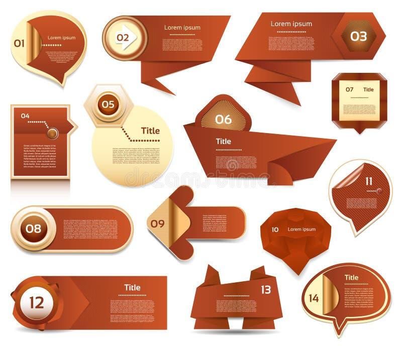 Bandera moderna de las opciones del infographics Ilustración del vector puede ser utilizado para la disposición del flujo de trab libre illustration