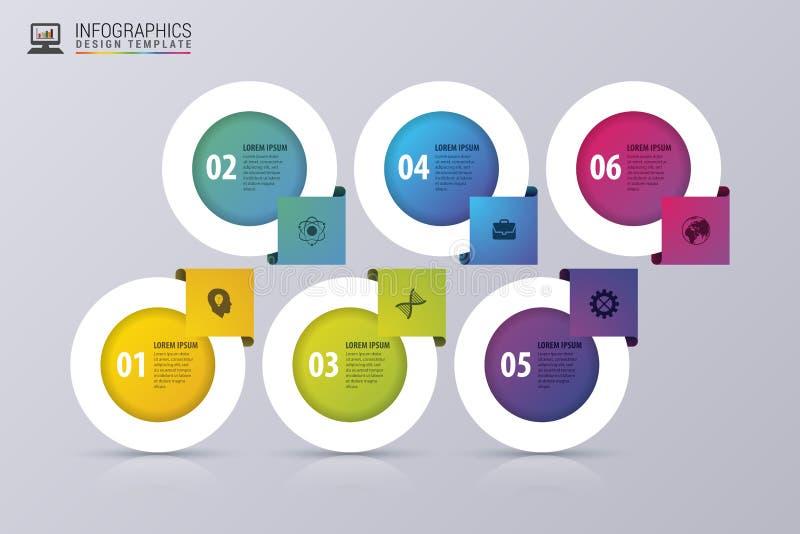 Bandera moderna de las opciones del negocio Plantilla del diseño de Infographic Ilustración del vector stock de ilustración