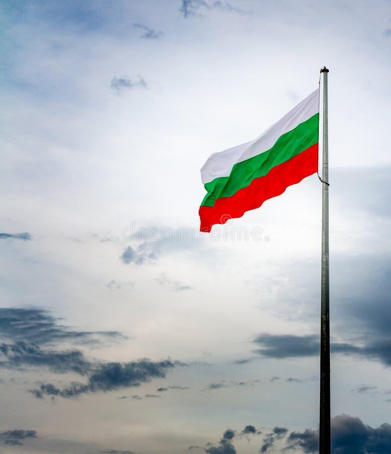 Bandera nacional búlgara imagenes de archivo