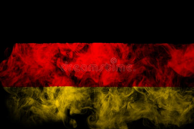 Bandera nacional de Alemania del humo coloreado grueso fotografía de archivo libre de regalías