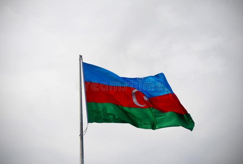 Bandera nacional de Azerbaijan fotografía de archivo libre de regalías
