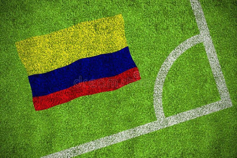 Bandera nacional de Colombia ilustración del vector