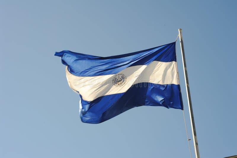 Bandera nacional de El Salvador imagen de archivo libre de regalías