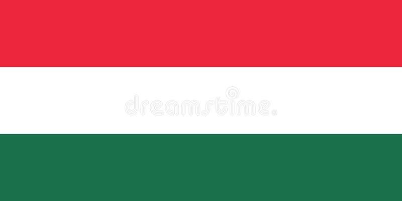 Bandera nacional de Hungr?a Ilustraci?n del vector Budapest stock de ilustración