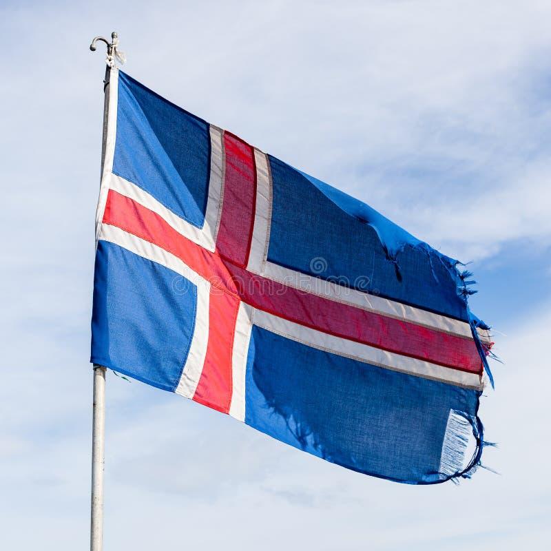 Bandera nacional de Islandia imagen de archivo