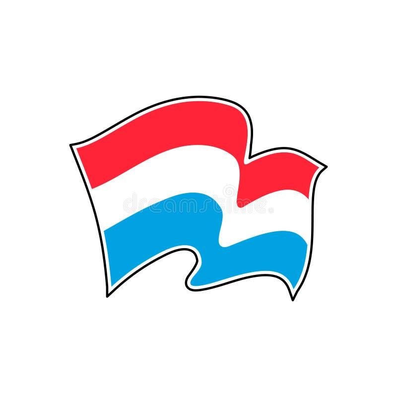 Bandera nacional de Luxemburgo Ilustraci?n del vector europa stock de ilustración