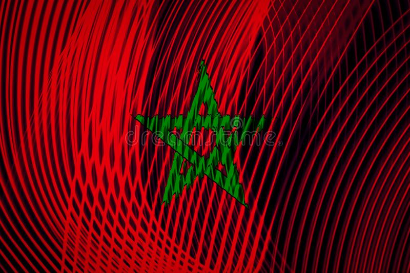 Bandera nacional de Marruecos en el fondo libre illustration
