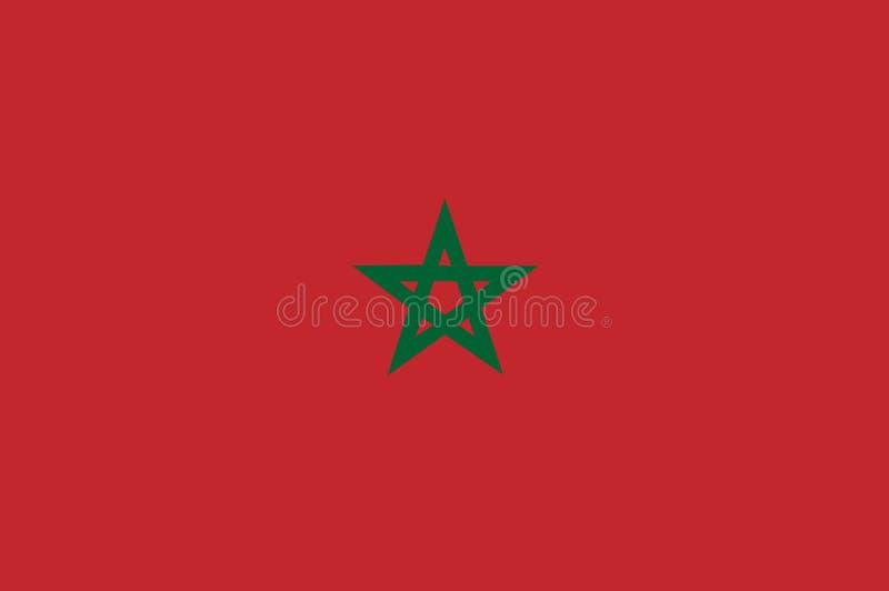 Bandera nacional de Marruecos Fondo con la bandera de Marruecos stock de ilustración
