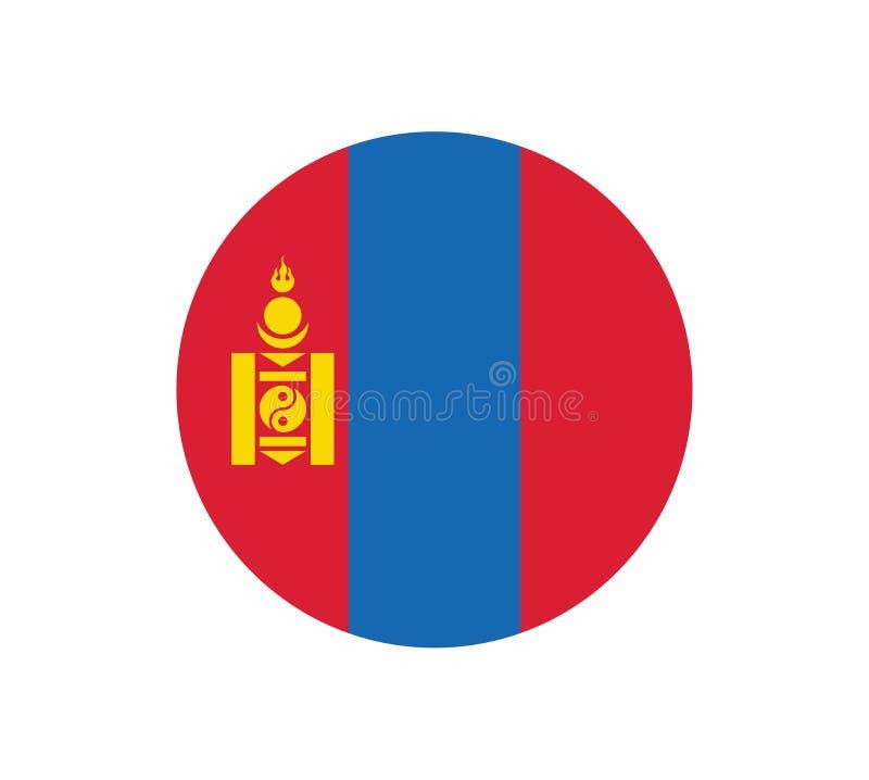 Bandera nacional de Mongolia, colores oficiales y proporción correctamente Bandera nacional de Mongolia Ilustraci?n del vector EP stock de ilustración