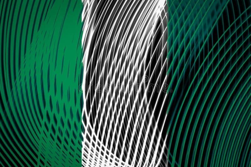 Bandera nacional de Nigeria stock de ilustración
