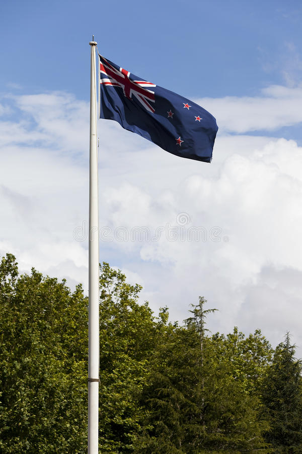 Bandera nacional de Nueva Zelanda foto de archivo