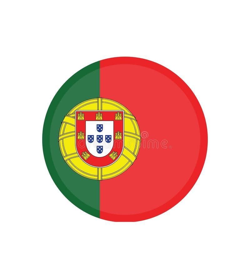 Bandera nacional de Portugal, colores oficiales y proporción correctamente Bandera nacional de Portugal Ilustraci?n del vector EP libre illustration