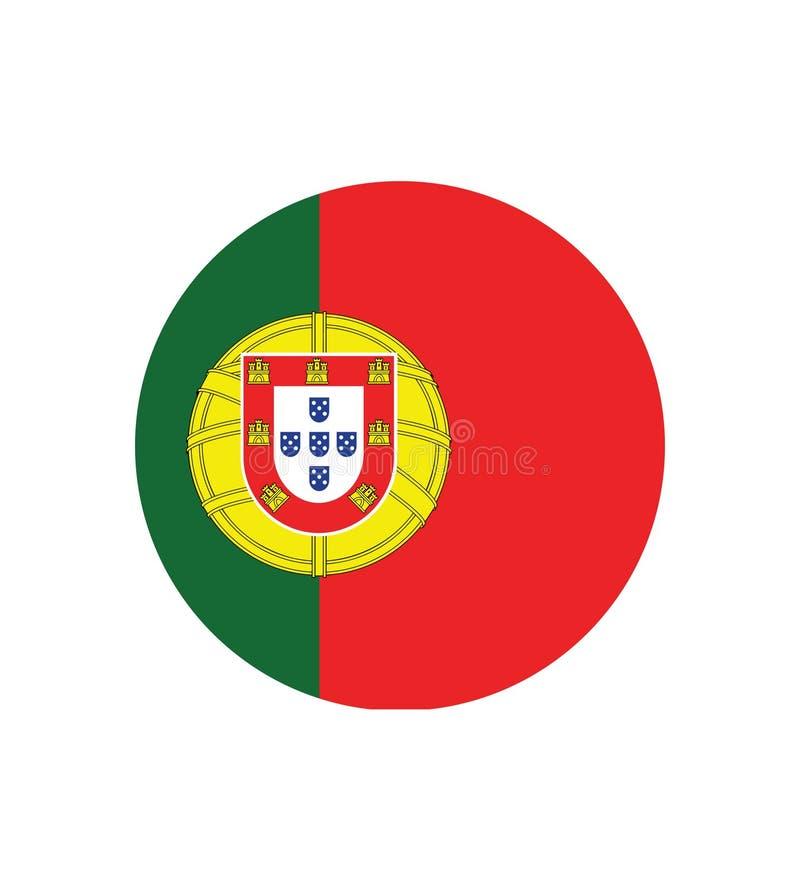Bandera nacional de Portugal, colores oficiales y proporción correctamente Bandera nacional de Portugal Ilustraci?n del vector EP ilustración del vector