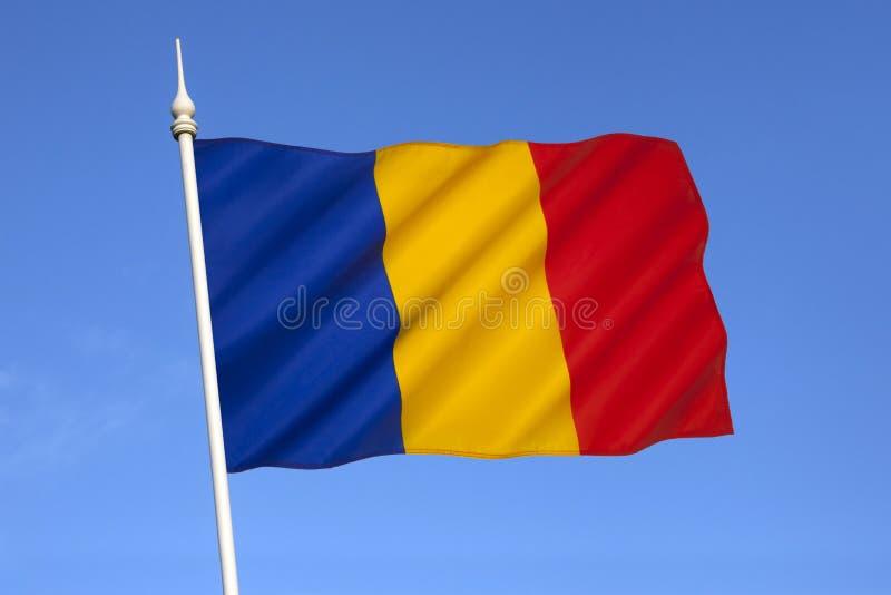 Bandera nacional de Rumania - Europa Oriental imagen de archivo libre de regalías