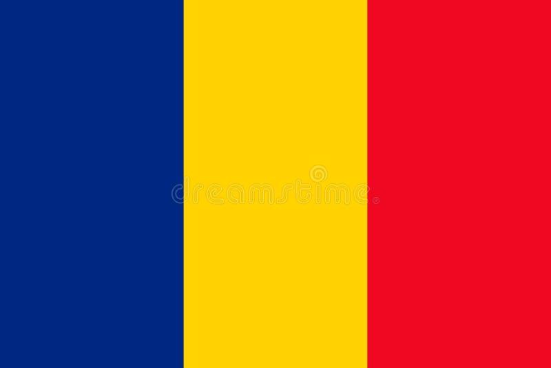 Bandera nacional de Rumania Ilustraci?n del vector bucarest ilustración del vector