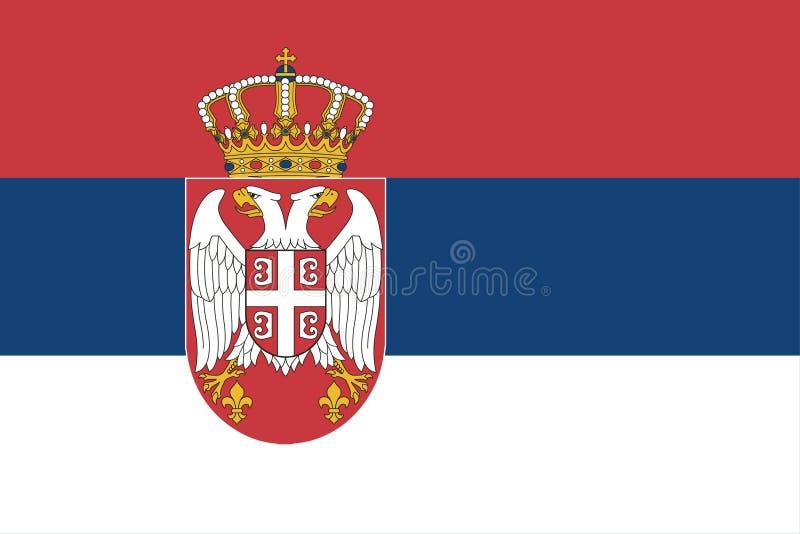 Bandera nacional de Serbia, colores oficiales y proporción correctamente Bandera nacional de Serbia Ilustraci?n del vector EPS10 ilustración del vector