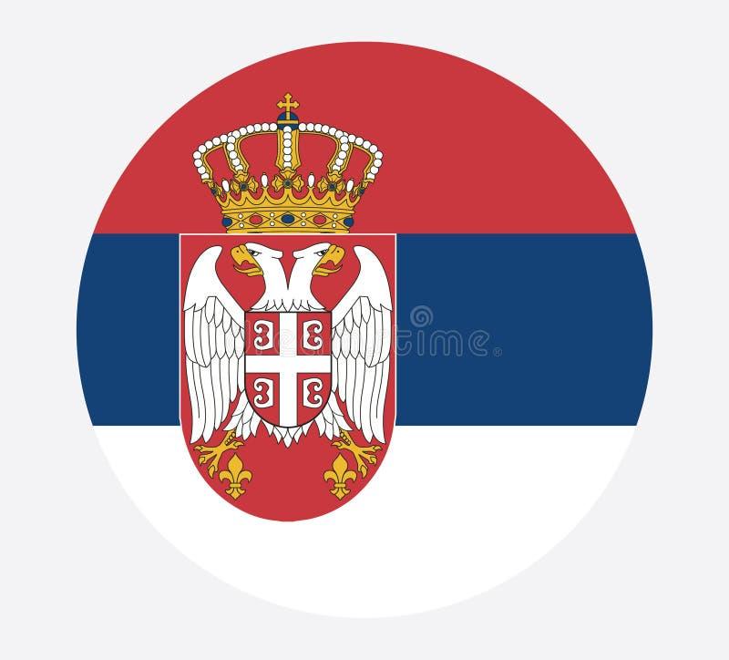 Bandera nacional de Serbia, colores oficiales y proporción correctamente Bandera nacional de Serbia Ilustraci?n del vector EPS10 stock de ilustración