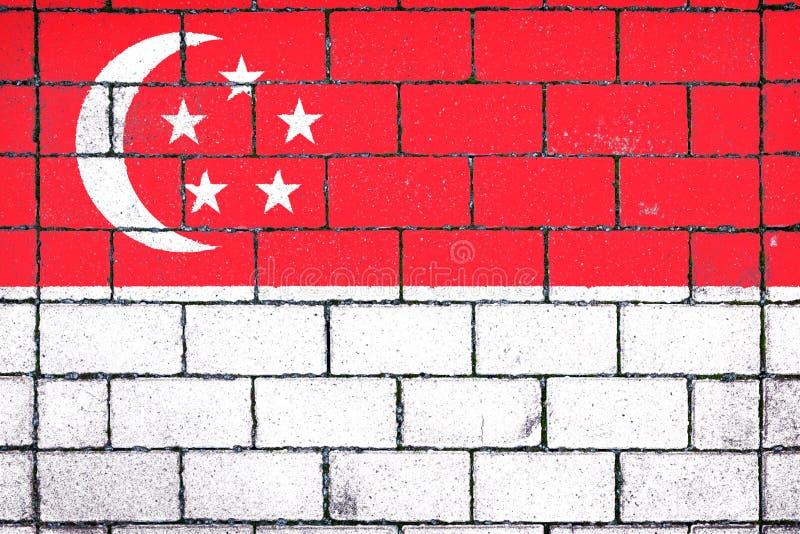 Bandera nacional de Singapur imagen de archivo libre de regalías