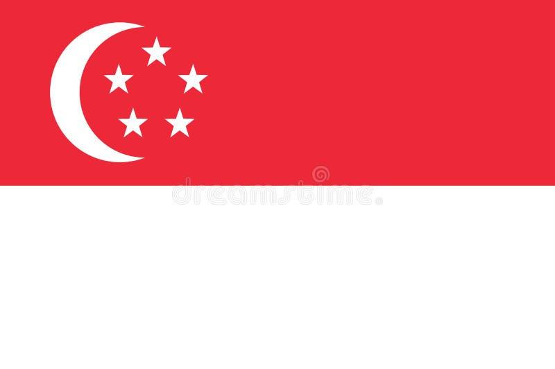Bandera nacional de Singapur Fondo con la bandera de Singapur ilustración del vector
