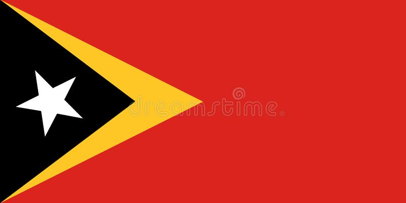 Bandera nacional de Timor Oriental Fondo con la bandera o de Timor Oriental ilustración del vector