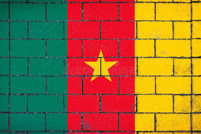 Bandera nacional del Camerún imagenes de archivo
