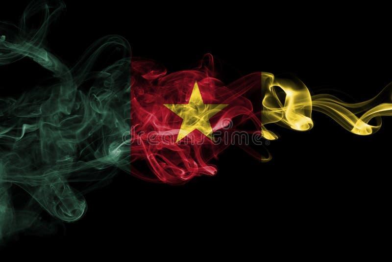 Bandera nacional del humo del Camerún imagen de archivo