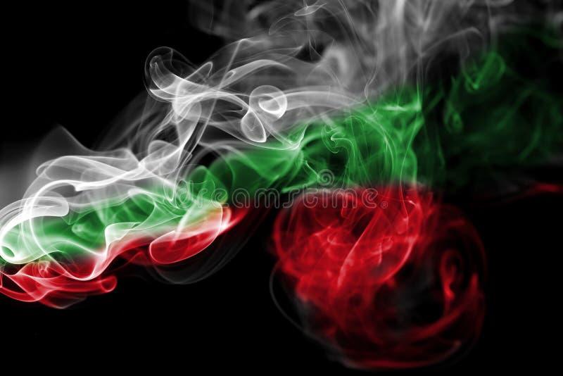 Bandera nacional del humo de Hungría fotografía de archivo libre de regalías