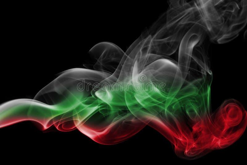 Bandera nacional del humo de Hungría imagen de archivo