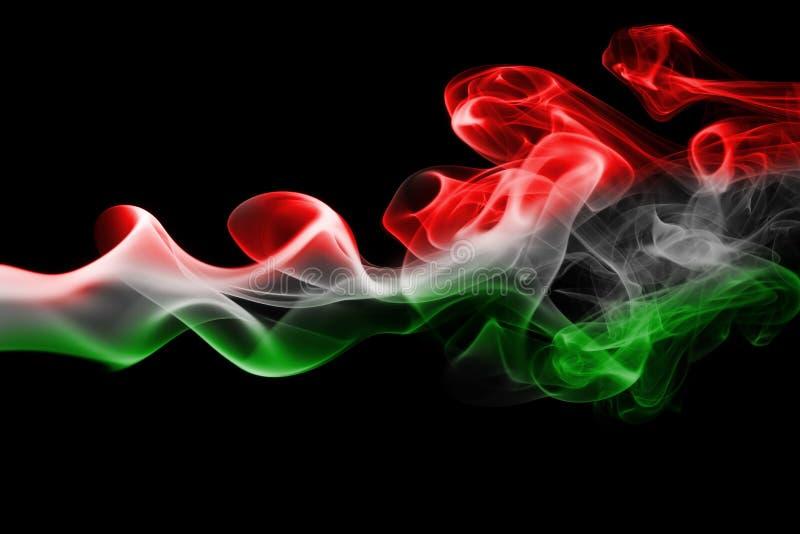 Bandera nacional del humo de Hungría stock de ilustración