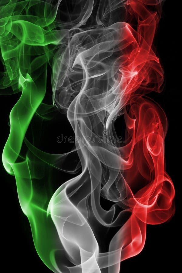 Bandera nacional del humo de Italia imagen de archivo libre de regalías