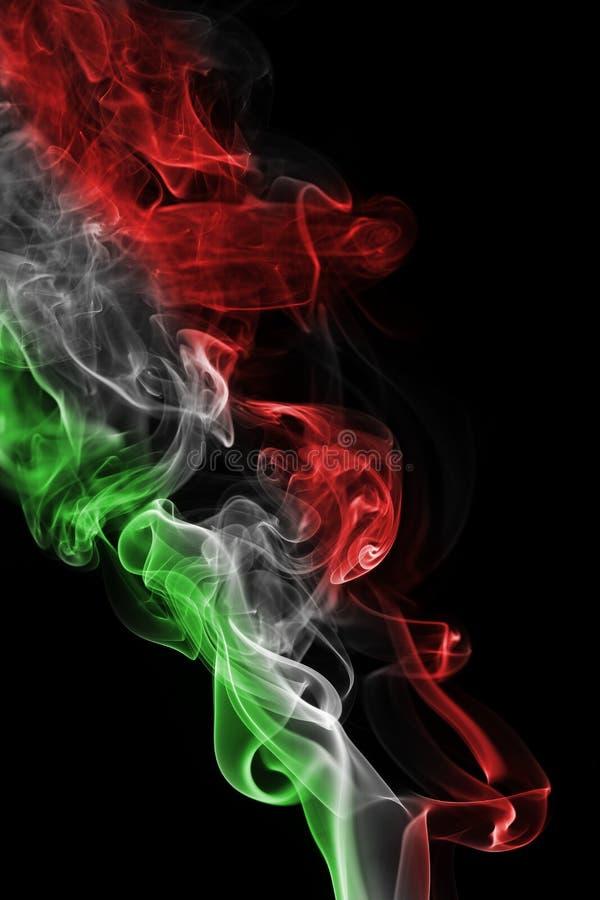 Bandera nacional del humo de Italia foto de archivo