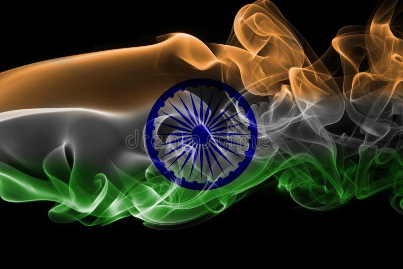 Bandera nacional del humo de la India stock de ilustración