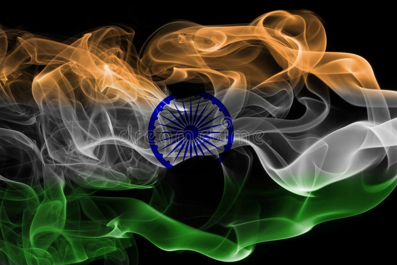 Bandera nacional del humo de la India libre illustration