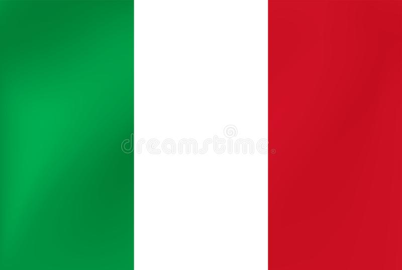 Bandera nacional del vector de Italia Ejemplo para los acontecimientos de la competencia de deportes, tradicionales o del estado libre illustration