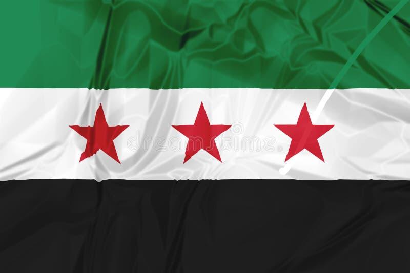 Bandera nacional siria de la coalición stock de ilustración